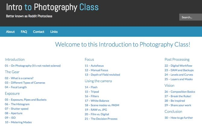 Reddit PhotoClass (Web):实践知识,而非理论